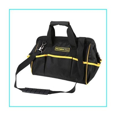Olympia Tools 15-Inch Tool Bag/87-780/Waterproof/10 External and 8 Internal Pockets of Various Sizes/5 Sturdy Rubber Feet/Durable Hardware H