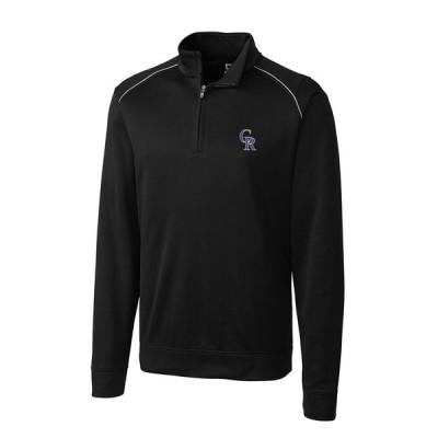 コロラド・ロッキーズ Cutter & Buck Ridge WeatherTec Half-Zip Pullover ジャケット - Black