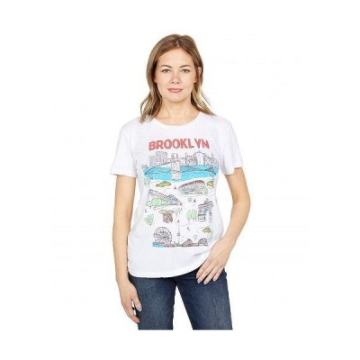 "Chaser チェイサー レディース 女性用 ファッション Tシャツ ""Brooklyn"" Recycled Vintage Jersey Everybody Tee - White"