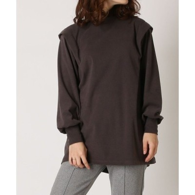 tシャツ Tシャツ ショルダータックチュニックプルオーバー