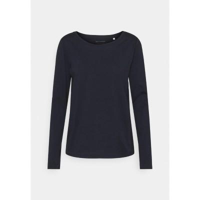 マルコポーロ カットソー レディース トップス LONG SLEEVE ROUND NECK - Long sleeved top - dark blue