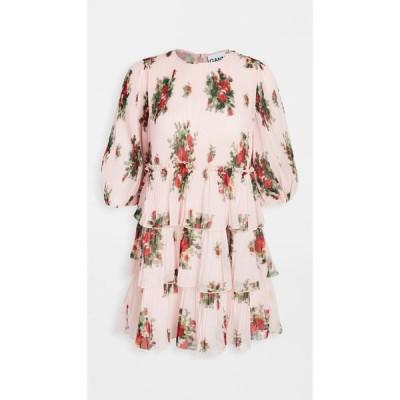 ガニー GANNI レディース ワンピース ワンピース・ドレス Pleated Georgette Dress Cherry Blossom