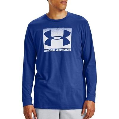 アンダーアーマー Under Armour メンズ トップス Sportstyle Boxed Long Sleeve Shirt Jupiter Blue/White