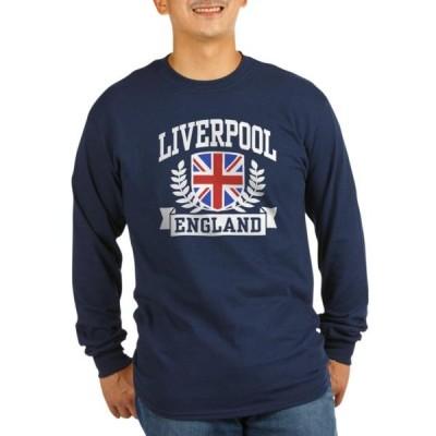 ユニセックス 衣類 トップス CafePress - Liverpool England - Long Sleeve Dark T-Shirt Tシャツ