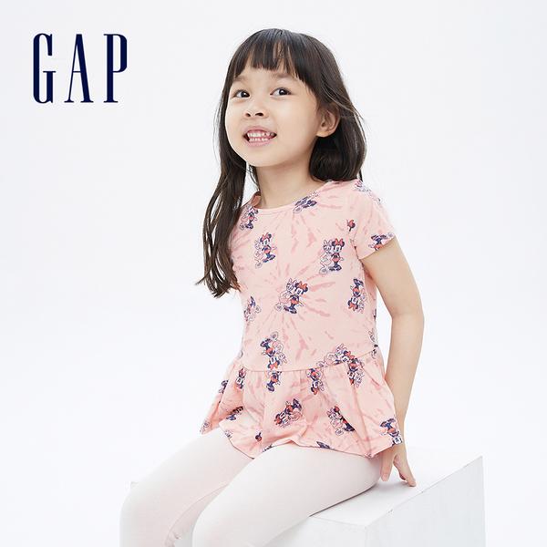 Gap女幼童 Gap x Disney 迪士尼系列荷葉邊短袖T恤 689396-米妮圖案