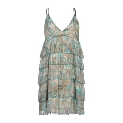 スーベニア SOUVENIR ミニワンピース&ドレス グリーン M ポリエステル 98% / 金属繊維 2% ミニワンピース&ドレス