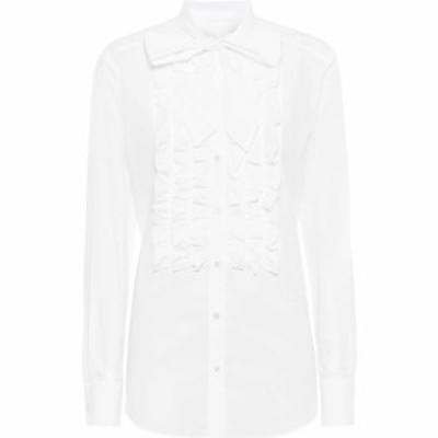 ドルチェandガッバーナ Dolce and Gabbana レディース ブラウス・シャツ トップス Cotton shirt Optical White
