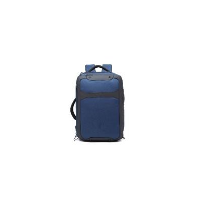 (濃紺)OZUKO 9307ビジネスバックパックラップトップバッグシングルショルダーポータブル収納バッグUSB防水盗難防止男性カバン学生