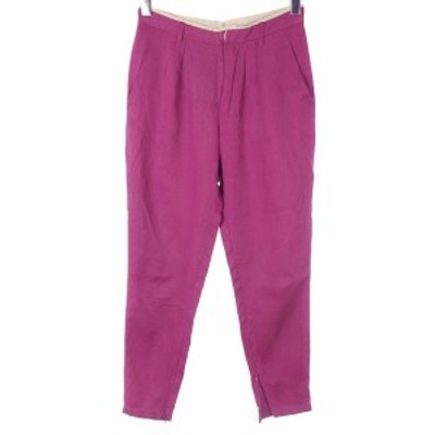 【中古】ケイビーエフ KBF アーバンリサーチ テーパード パンツ 36 裾ファスナー 紫 パープル ボトムス レディース