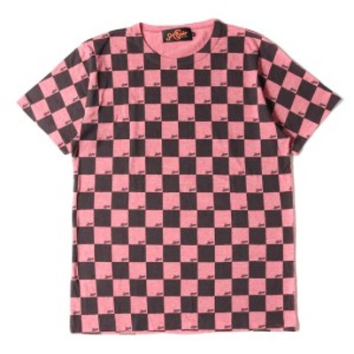 SUNNY C SIDER サニーシーサイダー Tシャツ チェッカーフラッグ 霜降り Tシャツ ヘザーレッド L 【メンズ】【中古】【K2967】