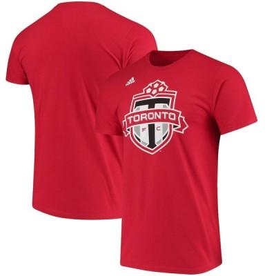 """アディダス メンズ Tシャツ """"Toronto FC"""" adidas Logo Set T-Shirt - Red"""
