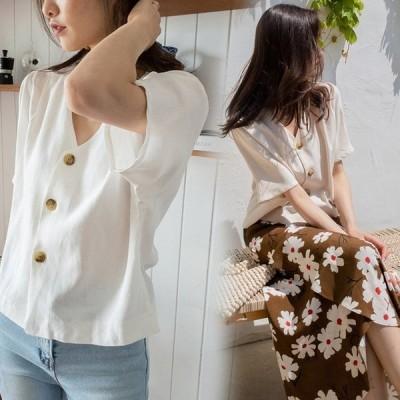 ブラウス レディース きれいめ 春夏 40代 無地 半袖 ゆったり カジュアル ブラウス オフィス 可愛い おしゃれ 韓国風 ショート 通勤 ブラウス 2色
