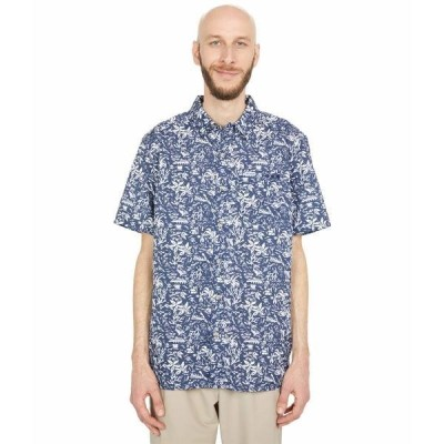コロンビア シャツ トップス メンズ Super Slack Tide Camp Shirt Collegiate Navy Kona Print