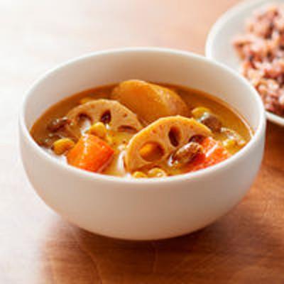 良品計画無印良品 素材を生かした 根菜のスパイシースープカレー 250g(1人前) 良品計画<化学調味料不使用>