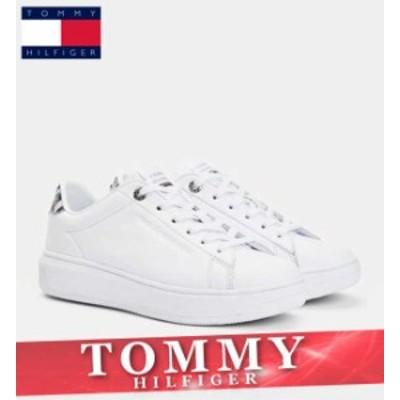トミーヒルフィガー スニーカー シューズ レディース トリコロール ロゴ 運動 ウォーキング 靴 新作 TOMMY