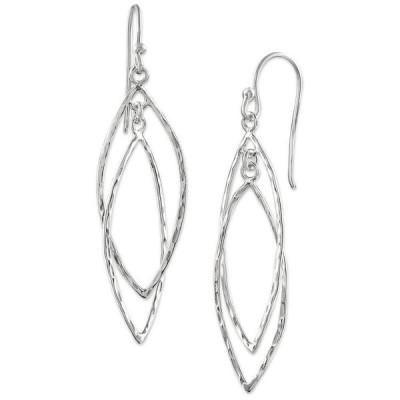 ジャーニ ベルニーニ レディース ピアス・イヤリング アクセサリー Hammered Double Marquise Drop Earrings in Sterling Silver