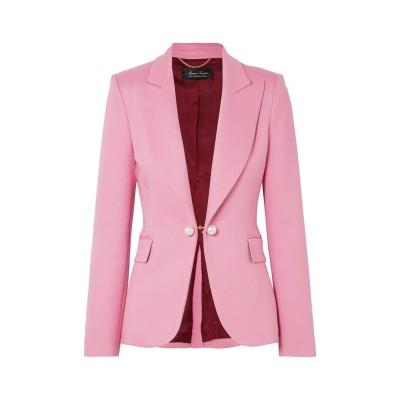ADAM LIPPES テーラードジャケット ピンク 6 レーヨン 50% / バージンウール 46% / ナイロン 2% / ポリウレタン 2%