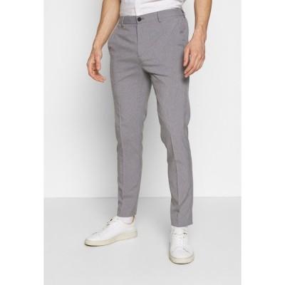 バナナ リバブリック カジュアルパンツ メンズ ボトムス LIGHTWEIGHT WASHABLE TROUSER - Chinos - light grey/silver