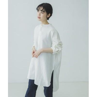 (KAGURE/カグレ)リネンチュニックシャツ/レディース OFFWHITE