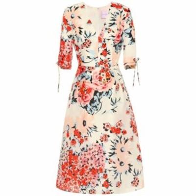 キャロリーナ ヘレラ Carolina Herrera レディース ワンピース ワンピース・ドレス Floral silk midi dress Ivory Multi