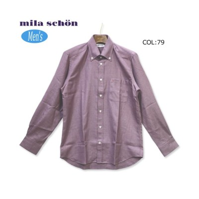 ミラショーン milaschon 31960-301 メンズ 長袖 ボタンダウンシャツ カジュアルウェア