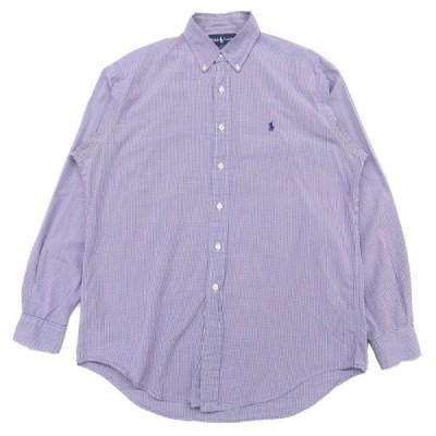 ポロラルフローレン ワンポイントロゴ ボタンダウンシャツ チェック サイズ表記:15 1/2 M