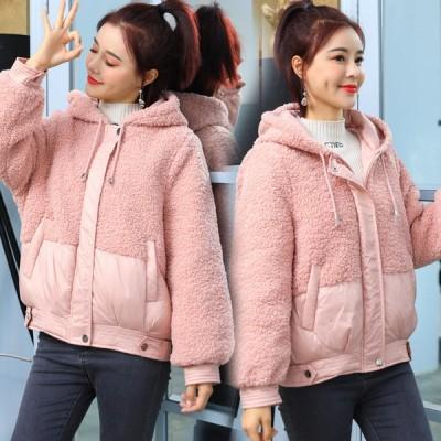 ショートコート フード付き 厚手上着 中綿コート アウター ゆったり 暖かい 可愛い 韓国風 レディース ダウンコート 防寒服 通勤 通学 ダウンジャケット
