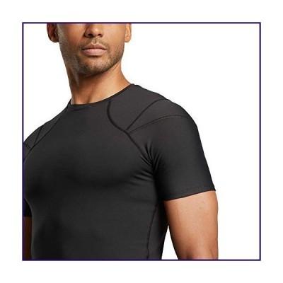 Tommie Copper - Men's Pro-Grade Short Sleeve Shoulder Support Shirt - Black - 2X Large【並行輸入品】