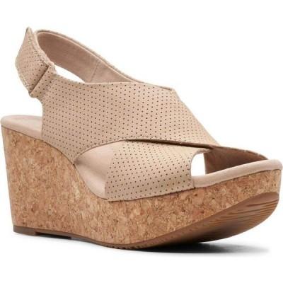 クラークス Clarks レディース サンダル・ミュール ウェッジソール シューズ・靴 Collection Annadel Parker Wedge Sandals Sand Suede