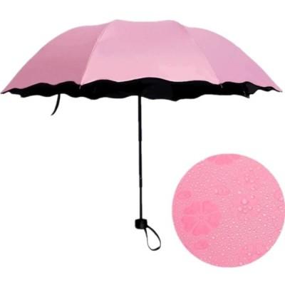 日傘 折りたたみ傘  完全遮光 花見 8本骨 晴雨兼用 UV対策 濡れると花咲く 携帯用 おしゃれ 軽量 レディース メンズ 大きい 丈夫 撥水 コンパクト 便利 学生