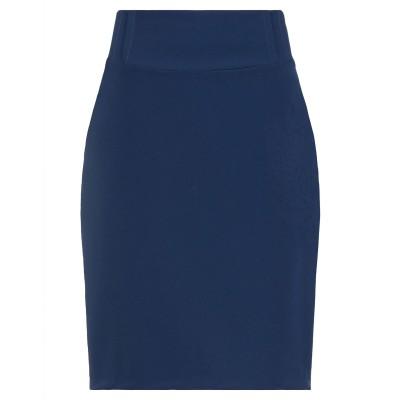 SORGENTE ひざ丈スカート ブルー 48 ポリエステル 93% / ポリウレタン 7% ひざ丈スカート