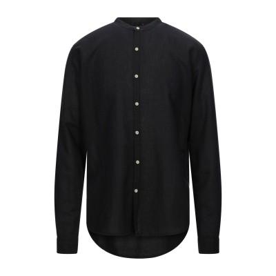 SCOUT シャツ ブラック S リネン 60% / コットン 40% シャツ