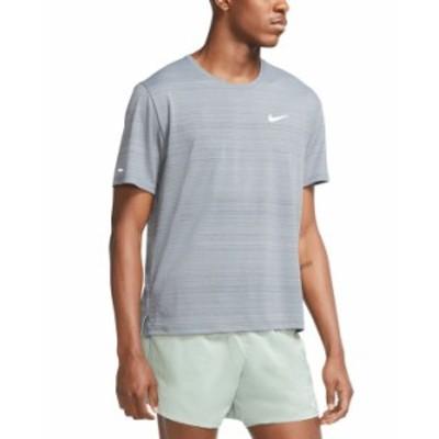 ナイキ メンズ Tシャツ トップス Men's Dri-FIT Miler T-Shirt Smoke Grey