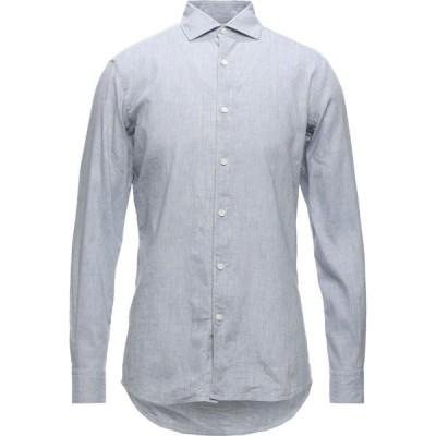 エルメネジルド ゼニア ERMENEGILDO ZEGNA メンズ シャツ トップス linen shirt Slate blue
