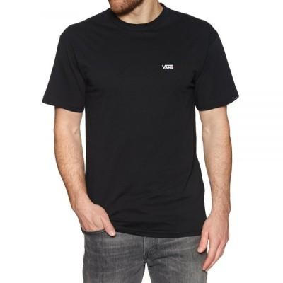 ヴァンズ Vans メンズ Tシャツ トップス left chest logo short sleeve t-shirt Black White