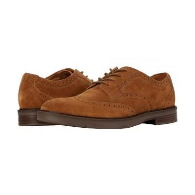Clarks クラークス メンズ 男性用 シューズ 靴 オックスフォード 紳士靴 通勤靴 Paulson Wing - Tan Suede