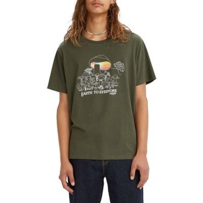 リーバイス LEVI'S メンズ Tシャツ トップス Levi's Graphic T-Shirt Logo Fill Depths Graphic