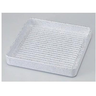 肉皿 スタッキング皿 正角肉皿 銀たたき 14cm ABS樹脂 食器洗浄機対応 f6-1223-31