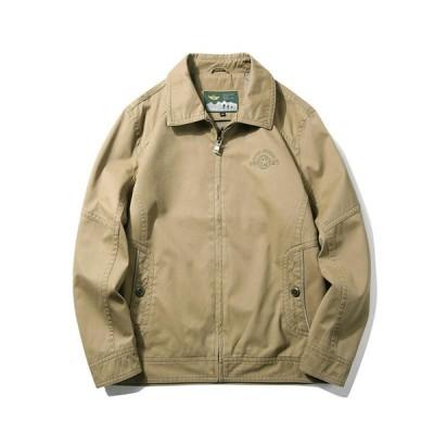 ジャケット メンズ キャンバスコート 折り襟 長袖 コットン 超軽量 長袖 アウトドア レジャー ゆったり 無地 薄手 ファッション アウター