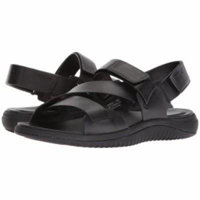コールハーン サンダル 2.Zerogrand Multi Strap Sandal Black Leather/Black