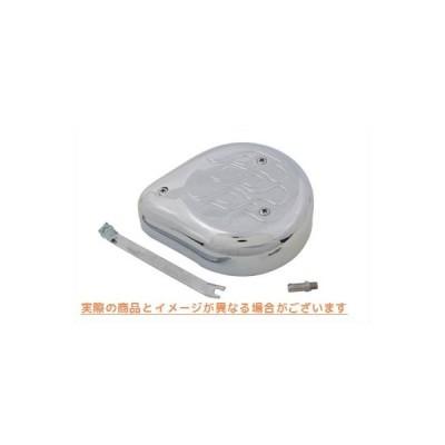 【取寄せ】Tear Drop Air Cleaner Kit Chrome Flame  V-TWIN 品番 34-0687  (参考品番: )  Vツイン アメリカ USA