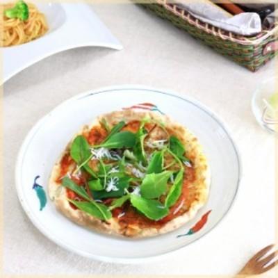 平型からし特大丸皿 国産 美濃焼 2~4人前のお寿司が盛れます 大きいお皿 丸皿 寿司 ピザ 特大 大皿 パーティー皿 和食器