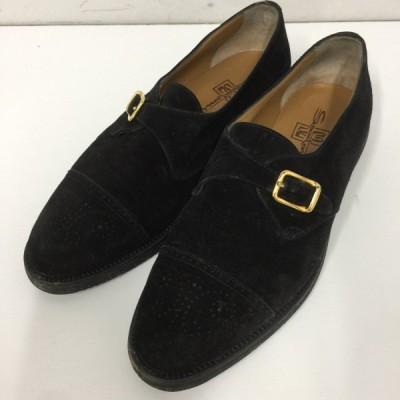 サントーニ Santoni シューズ 靴 スウェード チップ サイズ27cm 黒 03