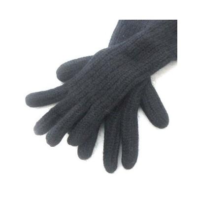 【中古】アクネ ストゥディオズ Acne Studios ロング グローブ 手袋 ニット ブラック 黒 レディース 【ベクトル 古着】
