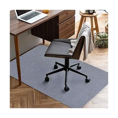 チェアマット 90*140cm 厚み4mm 床保護マット ズレない デスク 椅子 マット 吸音 床傷防止 滑り止 丸洗い可能 グレ