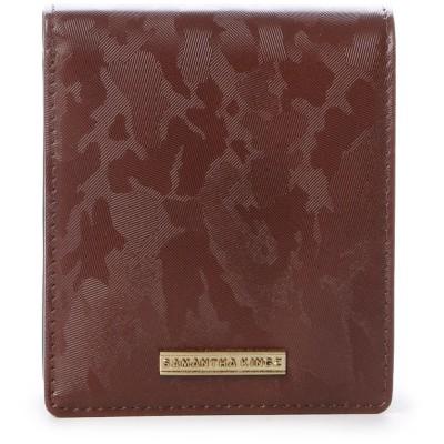 キングズ カモフラ型押しレザー 折財布 ブラウン