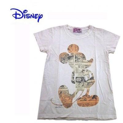 Disney Vintage ディズニー・ビンテージ レディース半袖カットソー Tシャツ ミッキーマウス MC アイボリー(M) (13時までの注文は当日発送 土日祝日は除く)