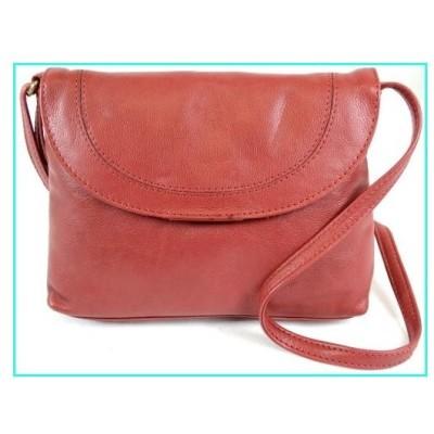 【新品】Ladies Soft Premium Leather Shoulder/Cross Body Bag (Red)(並行輸入品)