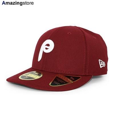 ニューエラ 59FIFTY フィラデルフィア フィリーズ 【MLB COOPERSTOWN LC LOW-CROWN FITTED CAP LP/BURGUNDY】 NEW ERA PHILADELPHIA PHILLIES
