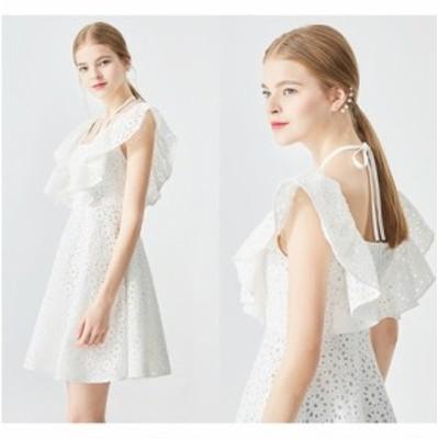 結婚式のお呼ばれ40代 結婚式のお呼ばれ30代 結婚式 ドレス お呼ばれ ワンピース 20代 フリル レース パーティードレス フレアスカート